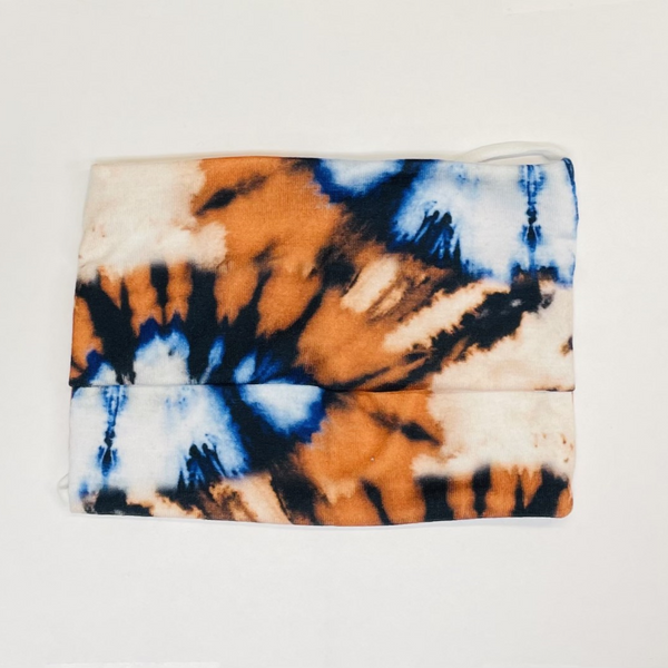 American Mask - Adult Orange/Blue Tie Dye