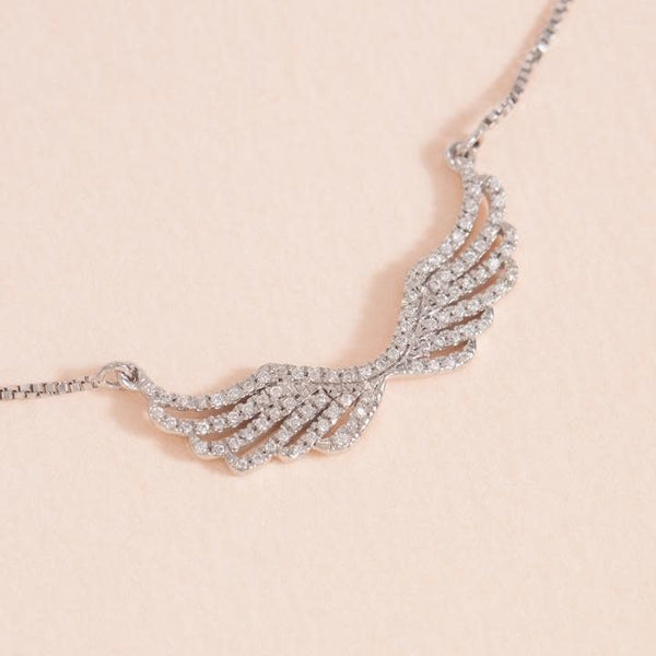 Wing It Necklace, Sterling Silver