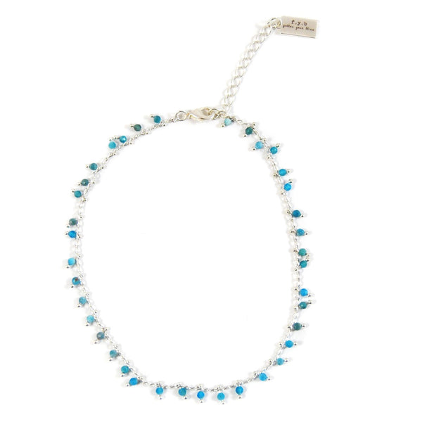 CHARLOTTE ANKLET TURQUOISE