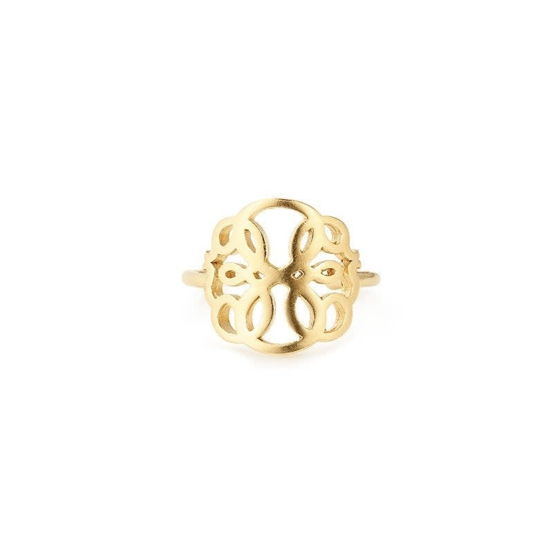 Path of Life Statement Adjustable Ring, 14KT Gold Plated