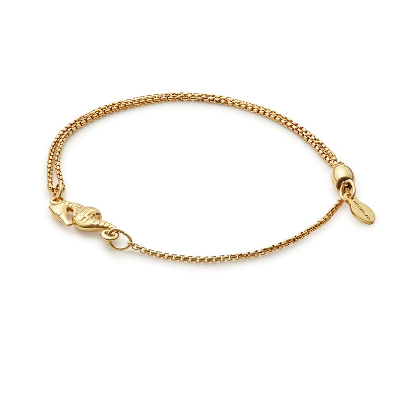 Providence Pull Chain Bracelet, Seahorse, 14Kt Gold Plated