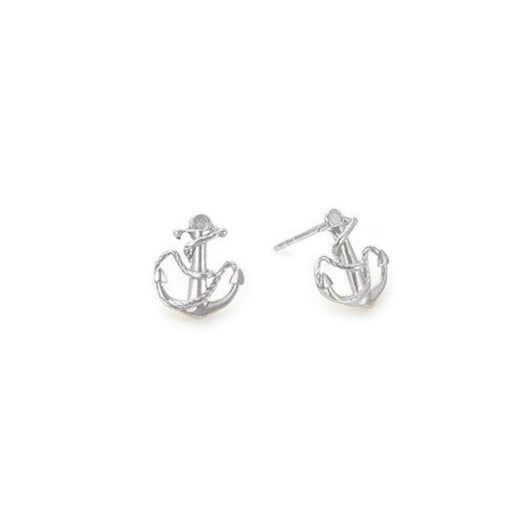 Providence Post Earrings, Anchor, Sterling Silver