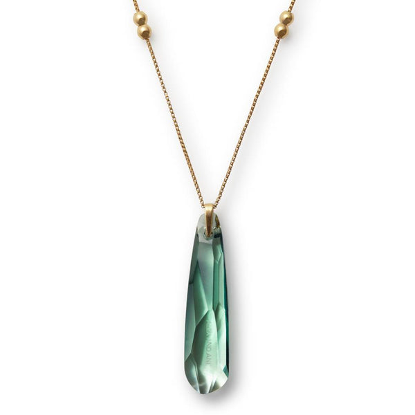 Crystal Infusion, Pendant Necklace, Sprout, 14Kt GP