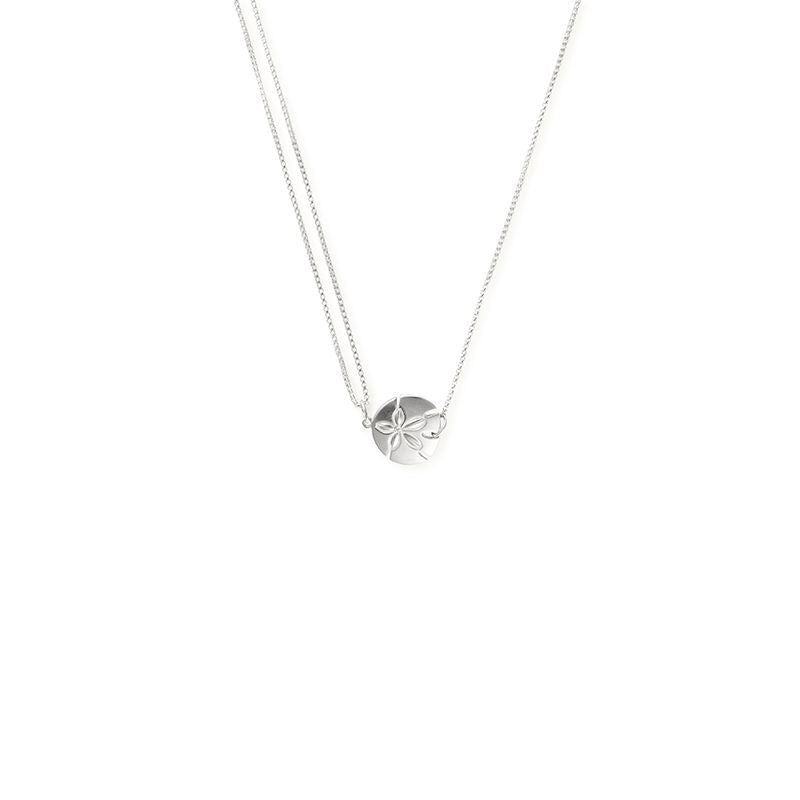 Providence Pull Chain Necklace, Sand Dollar, Sterling Silver