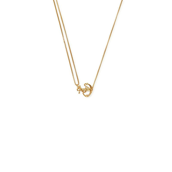 Providence Pull Chain Necklace, Anchor, 14Kt Gold Plated