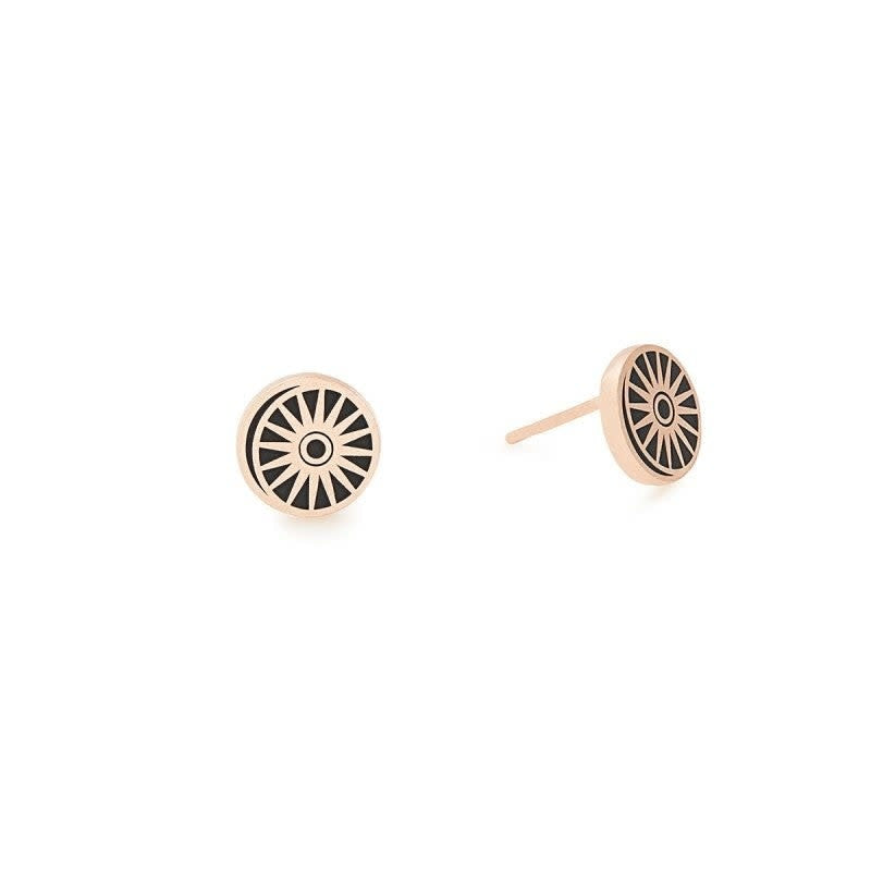 Cosmic Balance Post Earrings, 14KT Rose Gold Plated