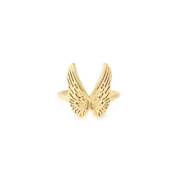 Guardian Angel Statement Adjustable Ring, 14KT Gold Plated