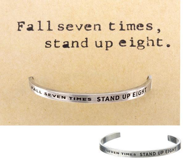 Fall Seven Times Quotable Cuff