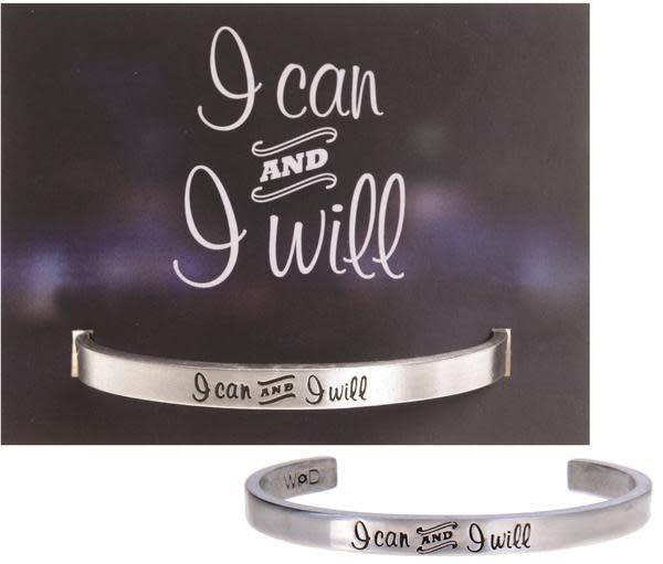 I Can and I Will Quotable Cuff