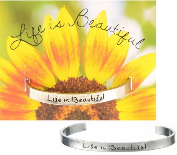 Life is Beautiful Quotable Cuff