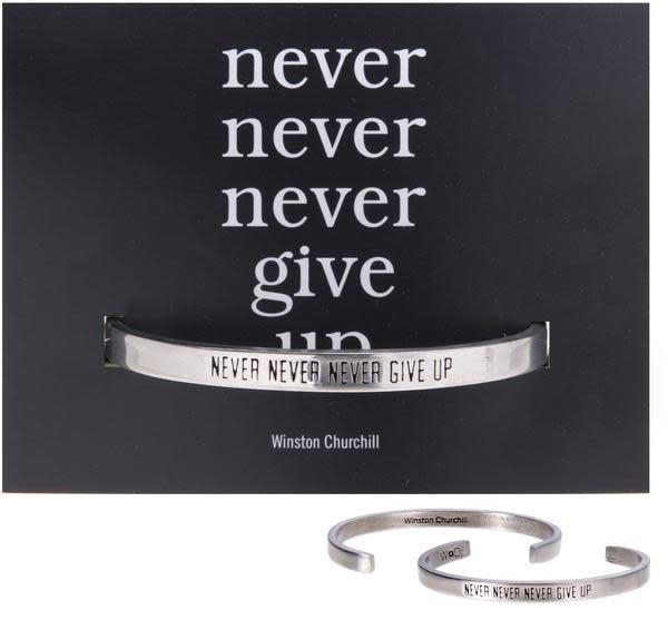 Never Give Up Quotable Cuff
