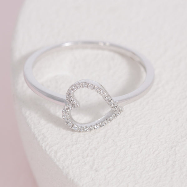 Heart and Soul Ring, Silver