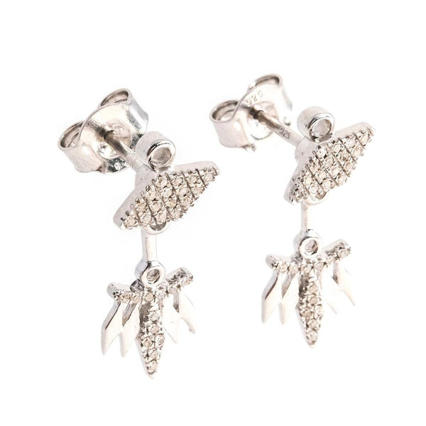 Rumba With Me Earrings - Silver