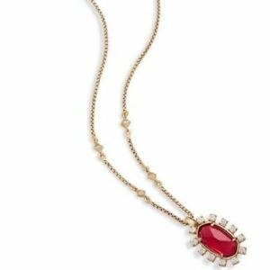 Brett Gold Necklace - Red
