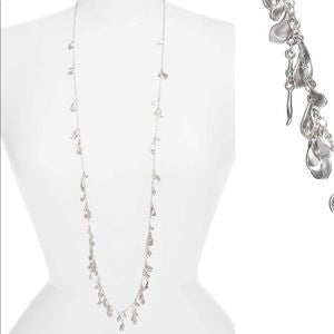 Bella Long Rhodium Necklace