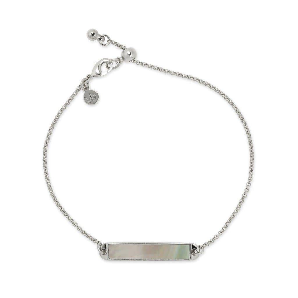 Hudson Slider, Mother of Pearl, Silver