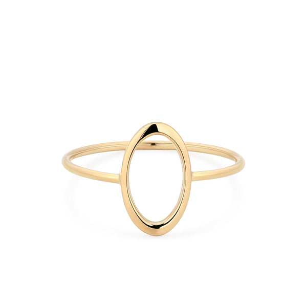 Minimal Oval Gold Ring