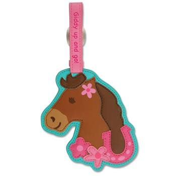Luggage Tag Girl Horse