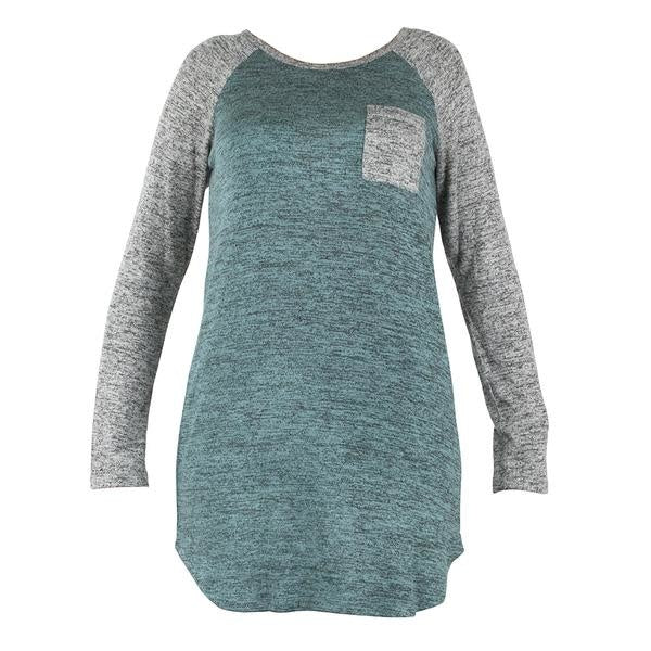 Mint Green/Grey Sleep Shirt