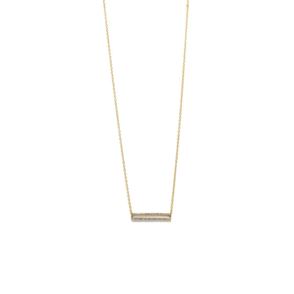 Set the Bar Necklace- Gold