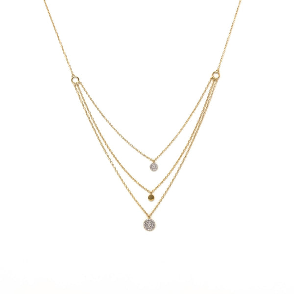 Right Round Necklace - Gold