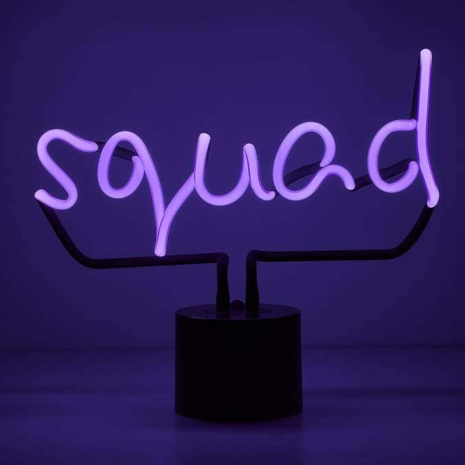Squad Neon Desk Light