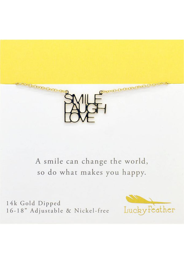 Strong and Sassy - Carded - Gold Necklace - Smile Laugh Love