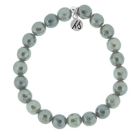 Stacker Collection - Classic Grey Agate 8mm