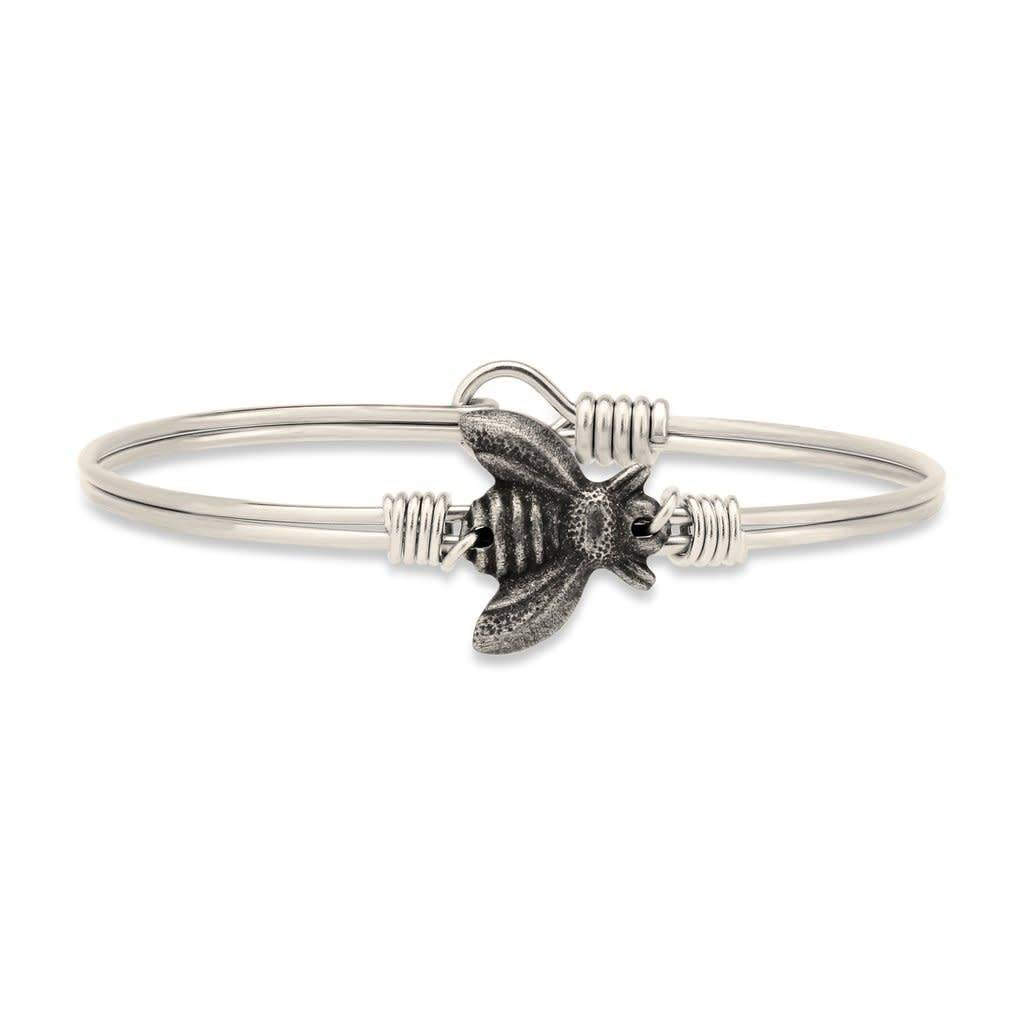 Bee on Silver Wire Wrapped Bracelet