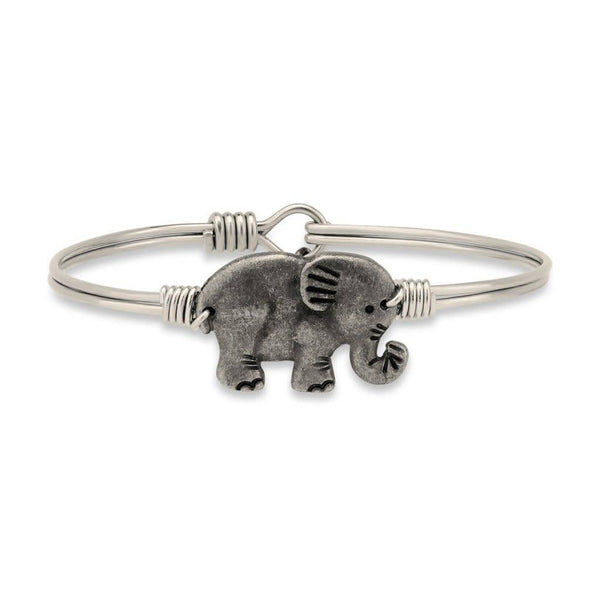 Elephant Silver Wire Wrapped Bracelet
