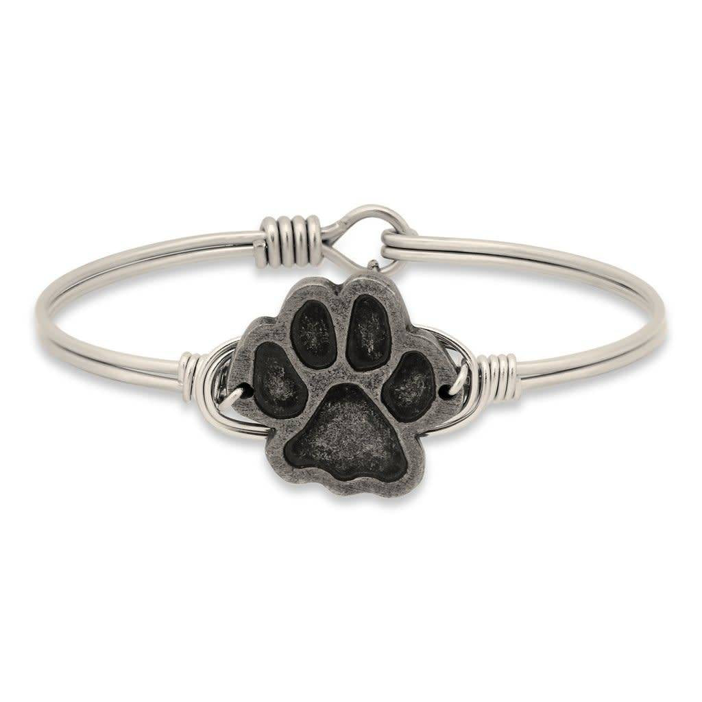 Pawprint Silver Wire Wrapped Bracelet