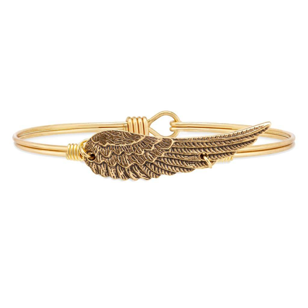 Golden Angel Wing Bangle, Gold