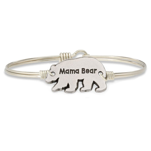Mama Bear Silver Wire Wrapped Bracelet