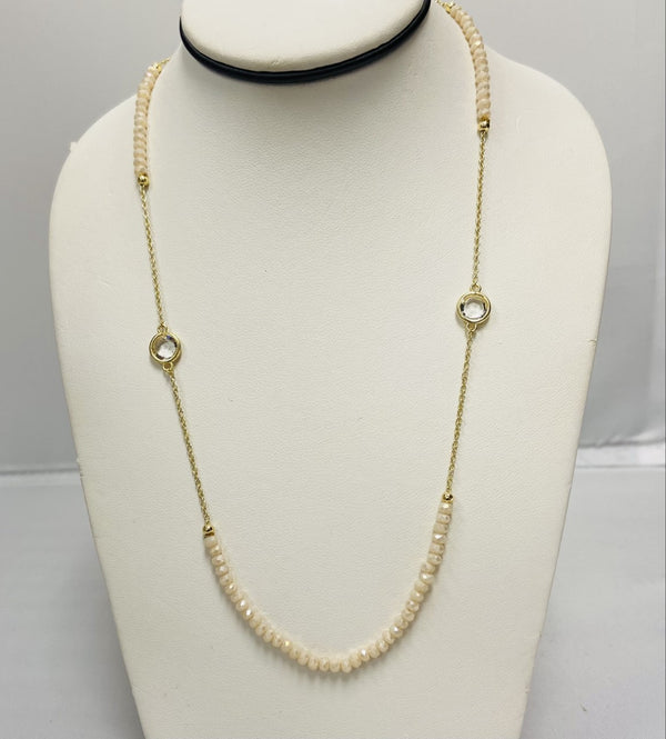 Blush Beaded Necklace - Gold