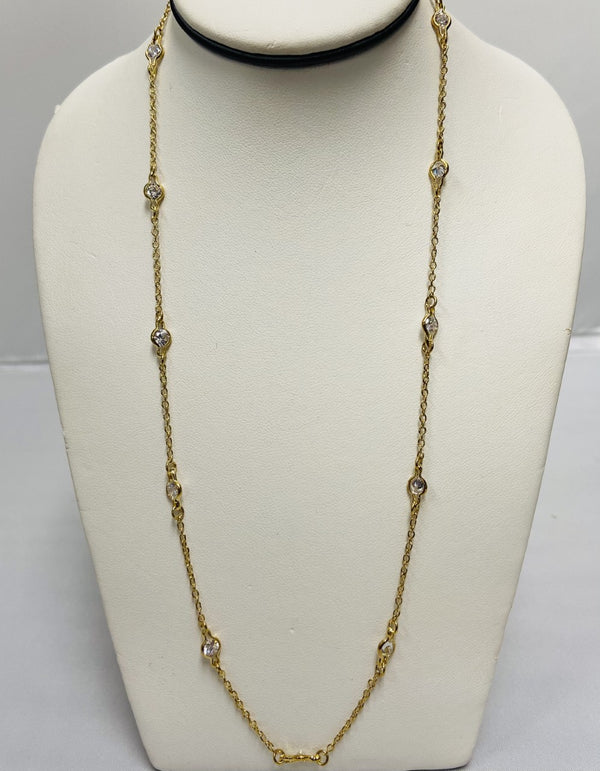 BR Gold w/CZ Necklace