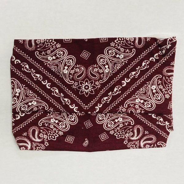 American Mask - Adults Maroon Bandana