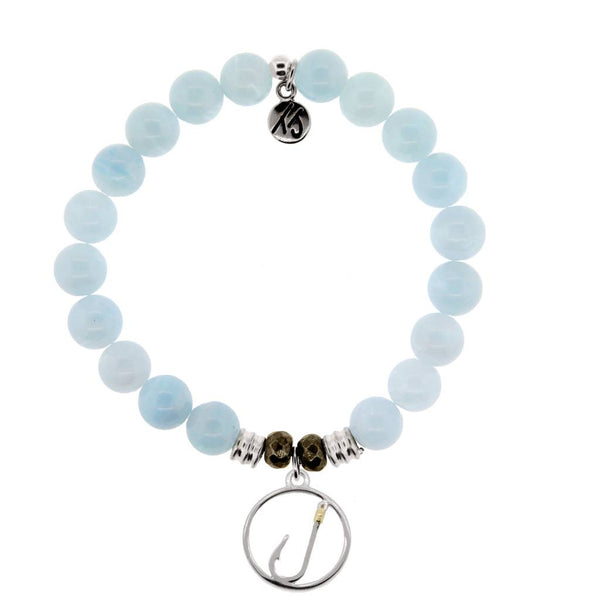 Core Collection Bracelet, Blue Aquamarine, Fish Hook