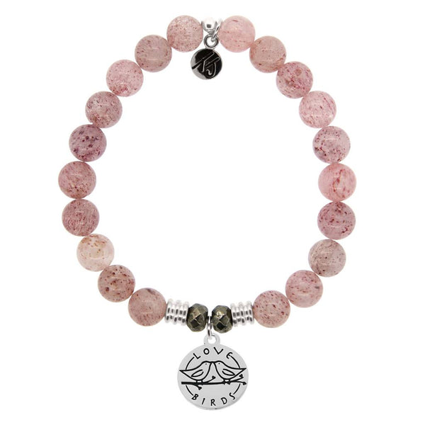 Core Collection Bracelet, Cherry Quartz, Love Birds