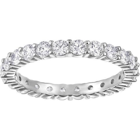 Vittore Ring, White, Rhodium plated (US 7)
