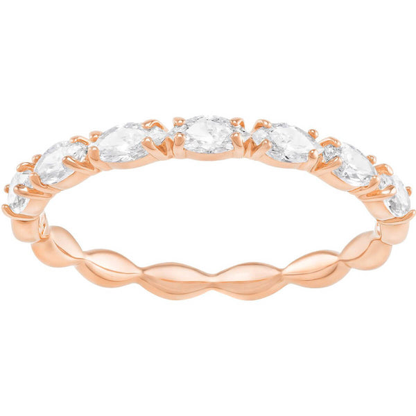 Vittore Marquise Ring, White, Rose-gold tone plated