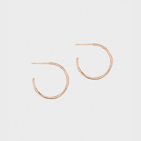 Taner Small Hoops, Rose Gold