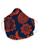 Vera Bradley - Adult Cotton Face Mask in Navy/Orange Bandana