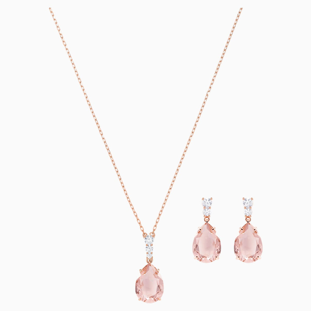 Vintage Set, Pink, Rose-gold tone plated