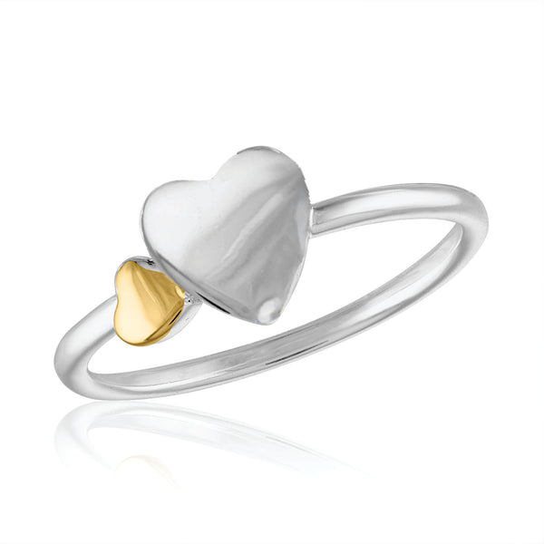 Puff Heart Stack Ring
