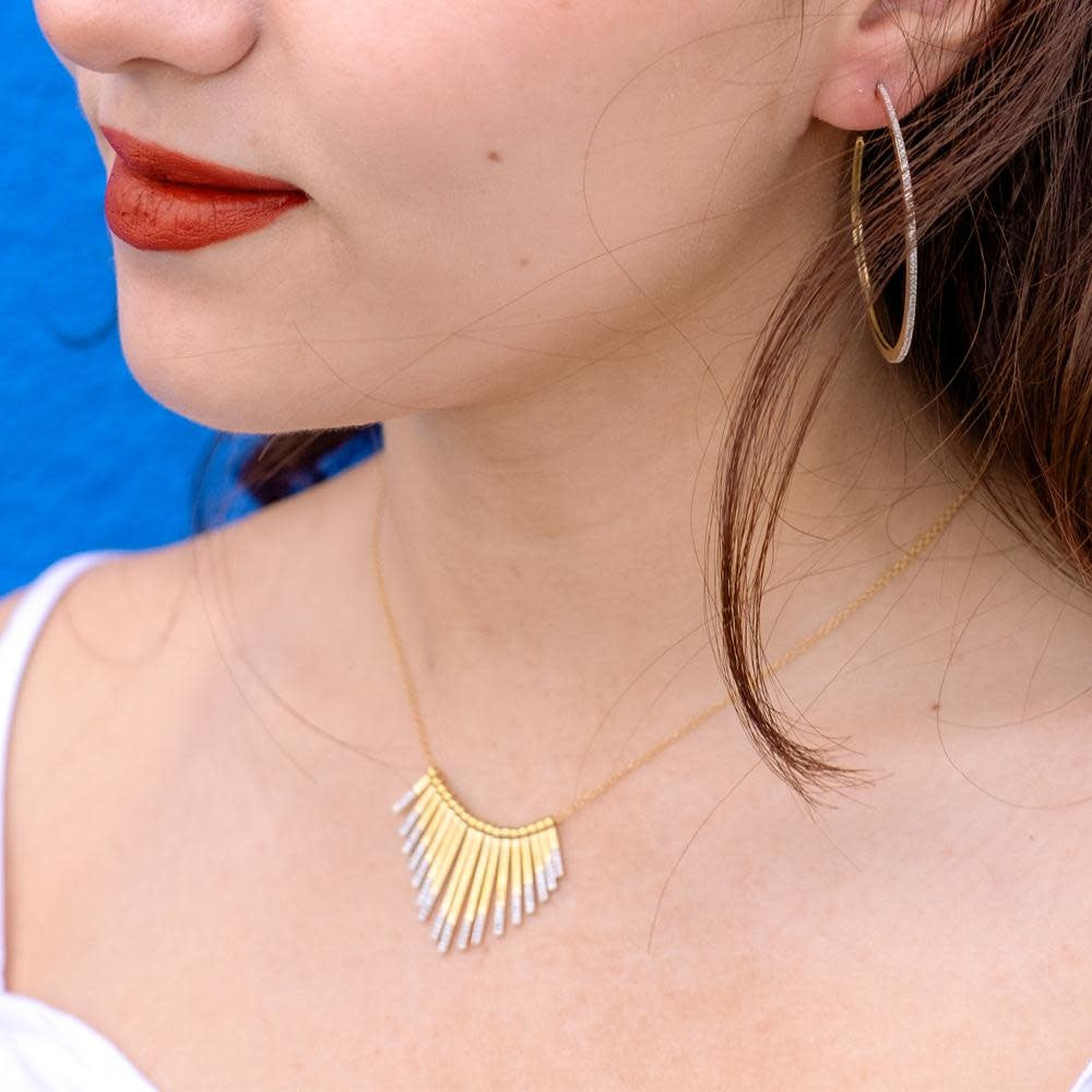 Sunset Over The City Necklace - Gold