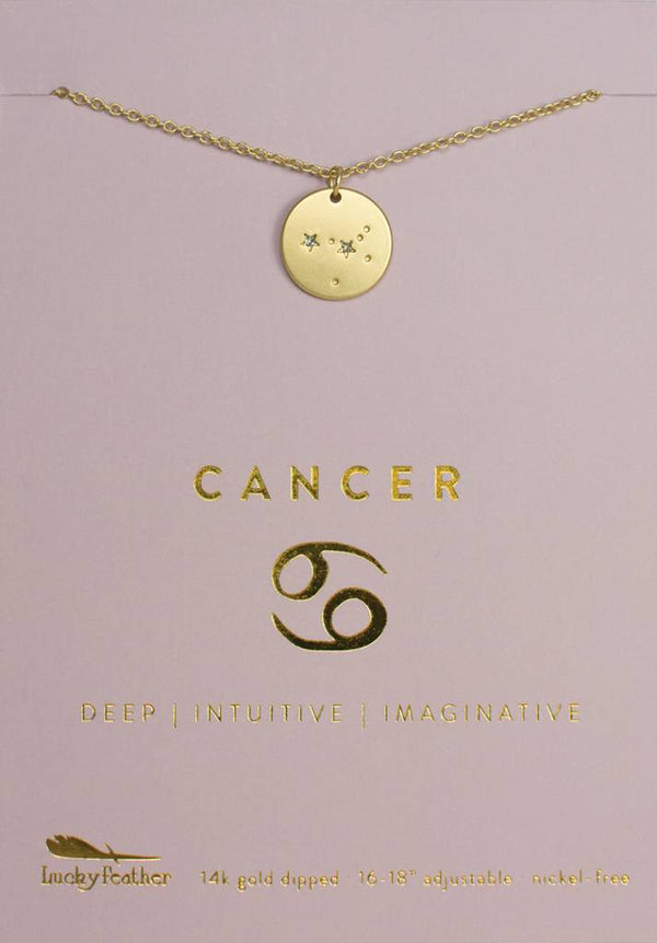 Cancer - Gold Necklace