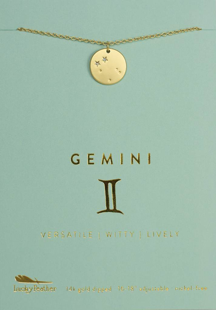 Gemini - Gold Necklace