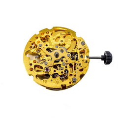 Gold Citizen Miyota 8N24 Watch Movement - Skeleton Automatic