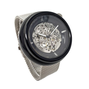 Black and Silver Resin Watch