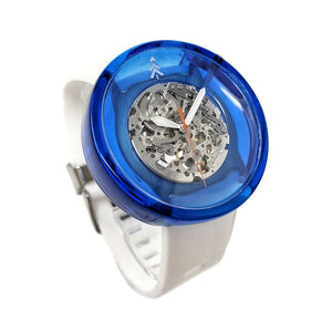 Blue and silver Resin Watch